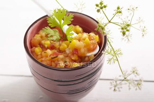 Вкусные папайи гуакамоле — стоковое фото