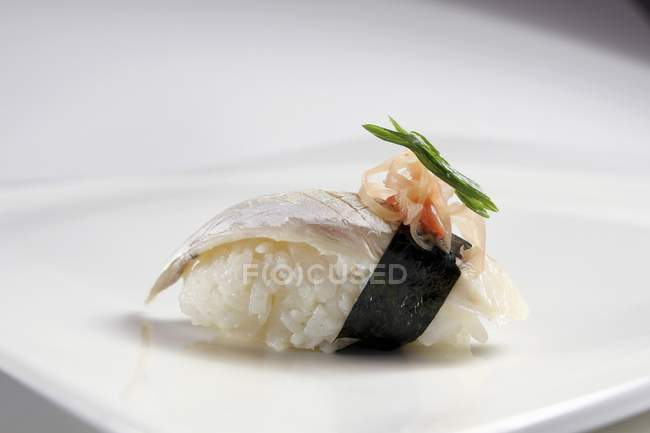 Nigiri Sushi mit Fisch — Stockfoto
