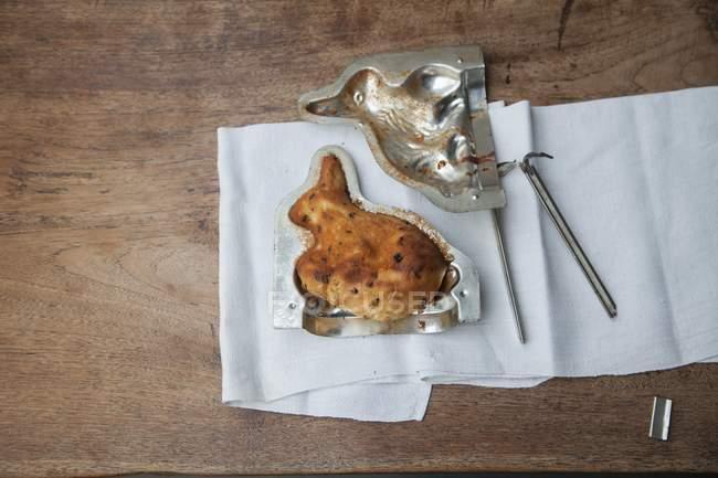 Пасхальный кролик торт — стоковое фото