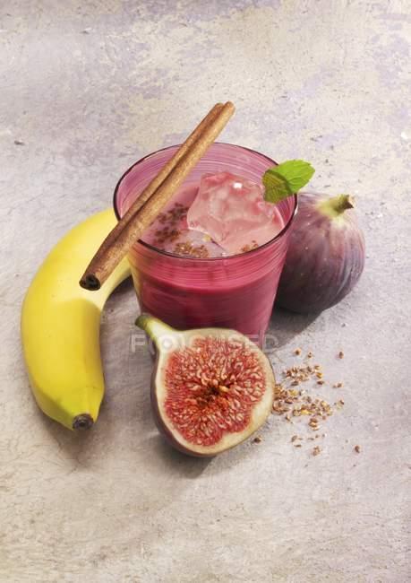 Smoothie figue et banane — Photo de stock