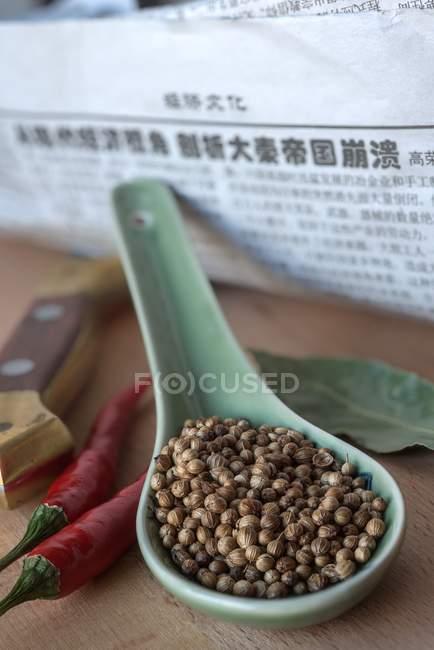 Chinese coriander seeds — Stock Photo