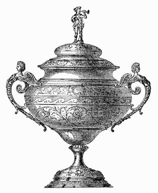 Abbildung von einem reich verzierten festliche Bowle — Stockfoto