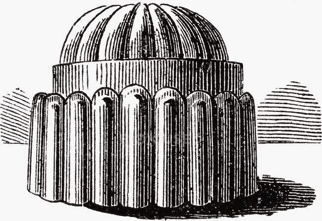 Closeup illustration of one Blancmange mould — Stock Photo