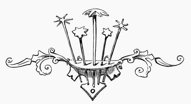 Illustration of star-shaped kitchen utensils in spoon holder — Stock Photo