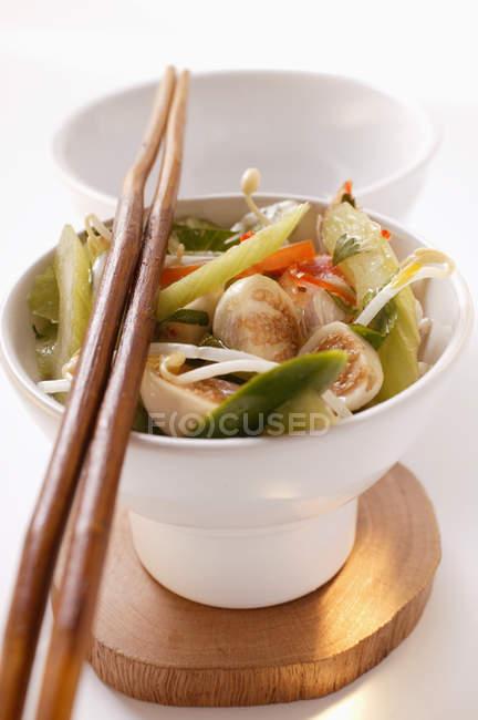 Asiatischer Gemüsesalat — Stockfoto