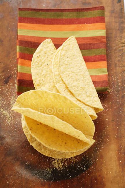 Tacos em pano listrado — Fotografia de Stock