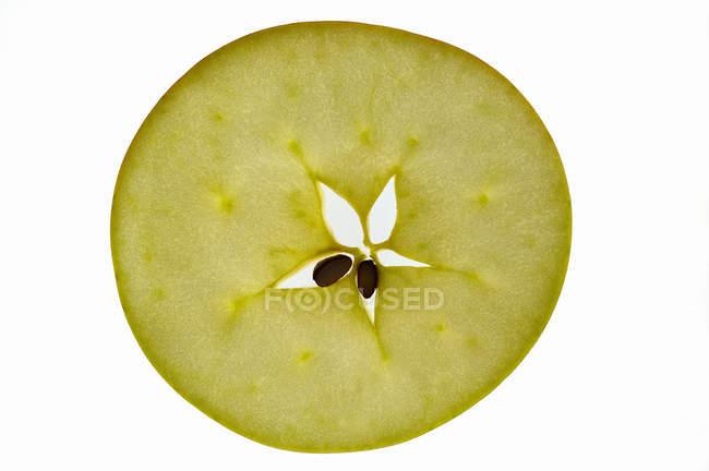 Rebanada de manzana madura - foto de stock