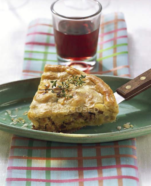 Pezzo di torta di verdure — Foto stock