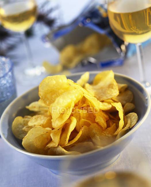 Ciotola di patatine — Foto stock