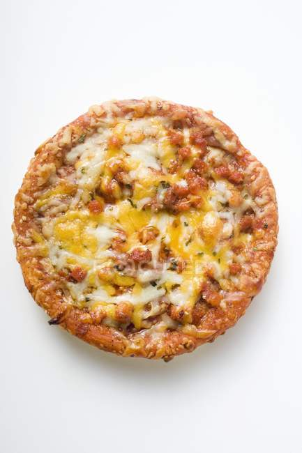Mini pizza with mince and cheese — Stock Photo