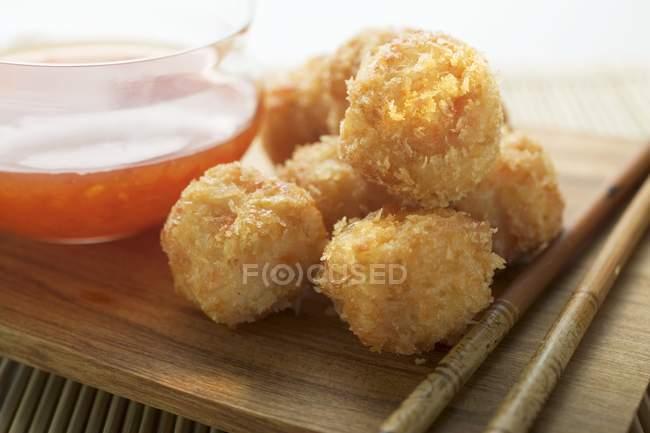 Bolas de Camarão empanado — Fotografia de Stock