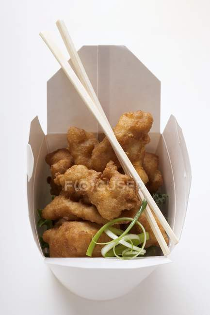 Asian chicken nuggets — Stock Photo