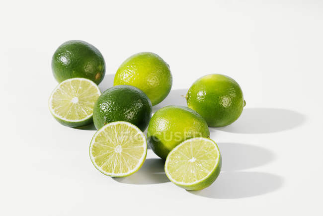 Fresh Ripe Limes — Stock Photo