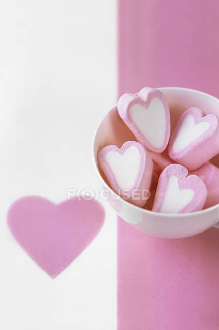 Pink and white marshmallow — Stock Photo