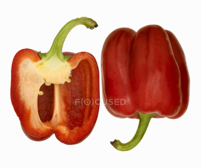 Peperoni rossi freschi maturi — Foto stock