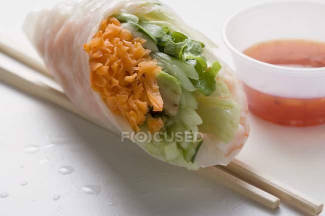Vietnamese rice paper roll — Stock Photo