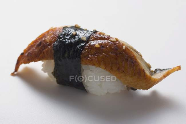 Nigiri sushi avec maquereau — Photo de stock