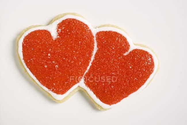 Galletas dobles en forma de corazón - foto de stock