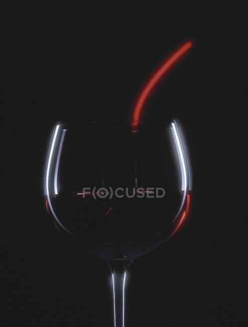 Бокал красного вина — стоковое фото
