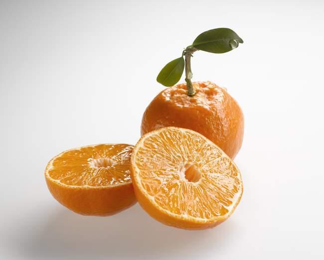 Mandarinas frescas maduras - foto de stock