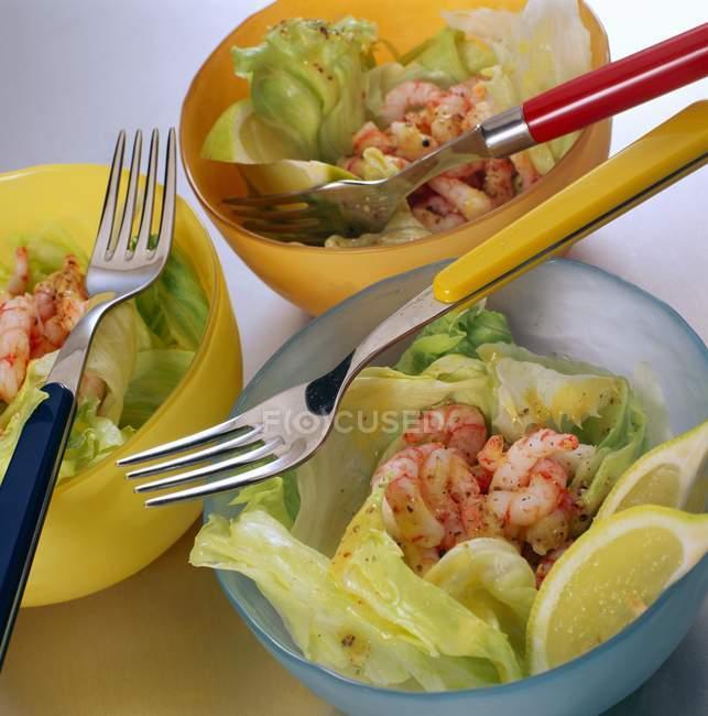 Айсберг салат з креветок салат — стокове фото