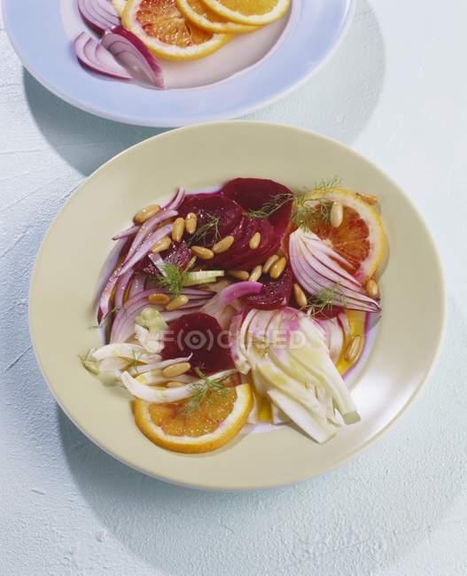 Салат з буряка з Помело — стокове фото