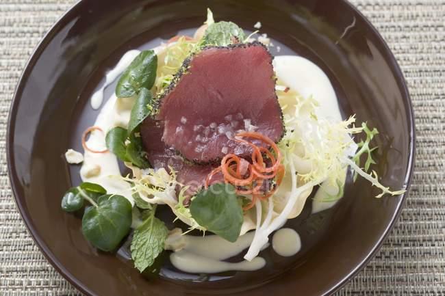 Filetto di tonno crudo — Foto stock