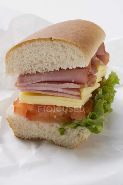 La moitié du sandwich secondaire — Photo de stock