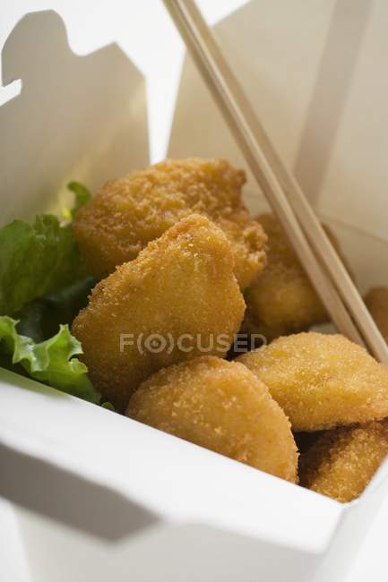Chicken Nuggets to take away — Stock Photo