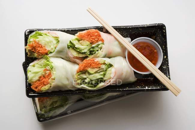 Vietnamese spring rolls — Stock Photo