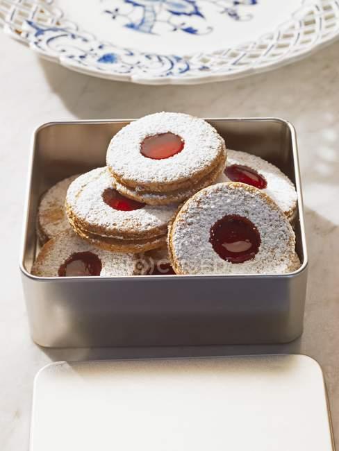 Печенье с сахарной пудрой — стоковое фото