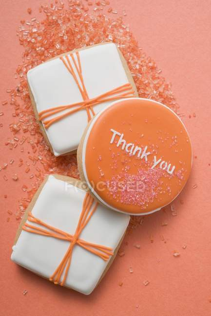 Biscotti arancioni e bianchi — Foto stock