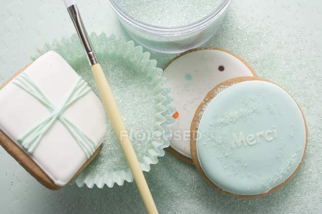 Pastel-colored biscuits — Stock Photo