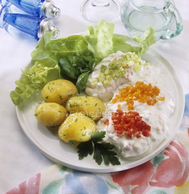 Quark con patate lesse — Foto stock