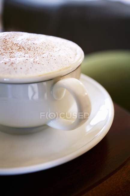 Cup of Cappuccino with Foam — Stock Photo