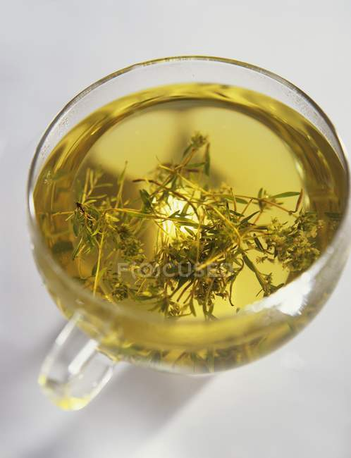 Thyme tea in cup — Stock Photo