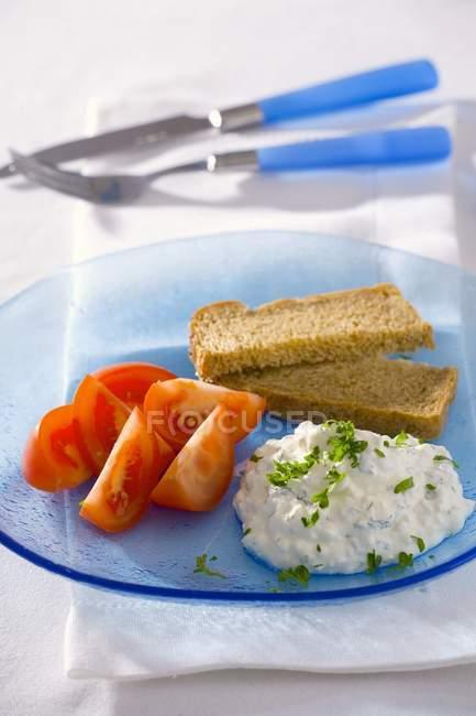 Diät-Frühstück: auf Platte — Stockfoto