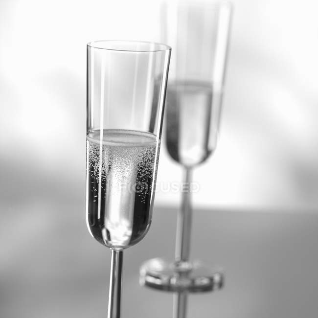 Lasses of sparkling wine — Stock Photo