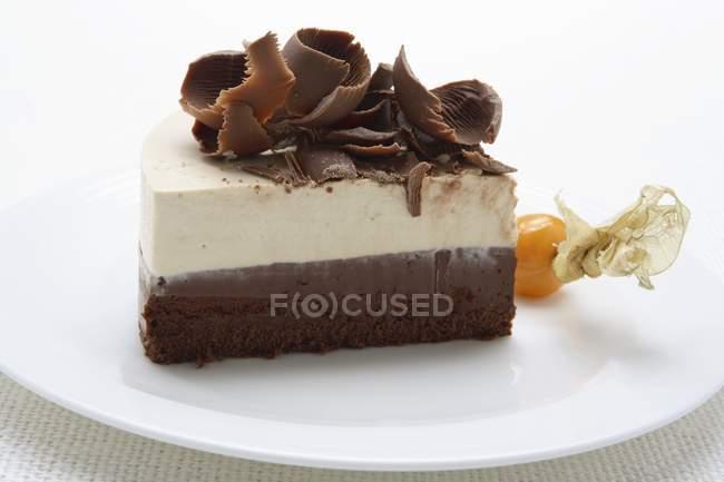 Semifreddo au chocolat et mascarpone — Photo de stock