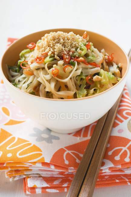 Spicy rice noodles — Stock Photo
