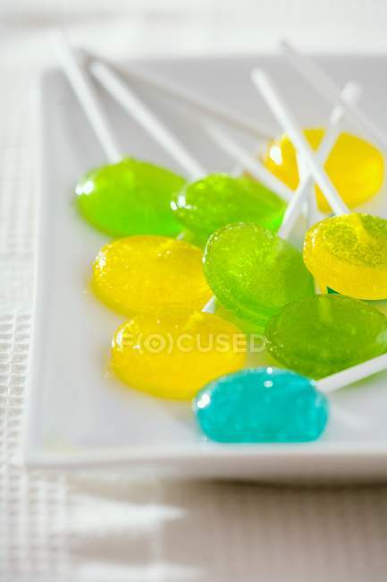 Many coloured lollipops — Stock Photo