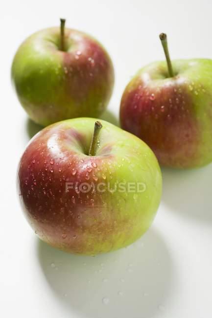 Three fresh apples — Stock Photo