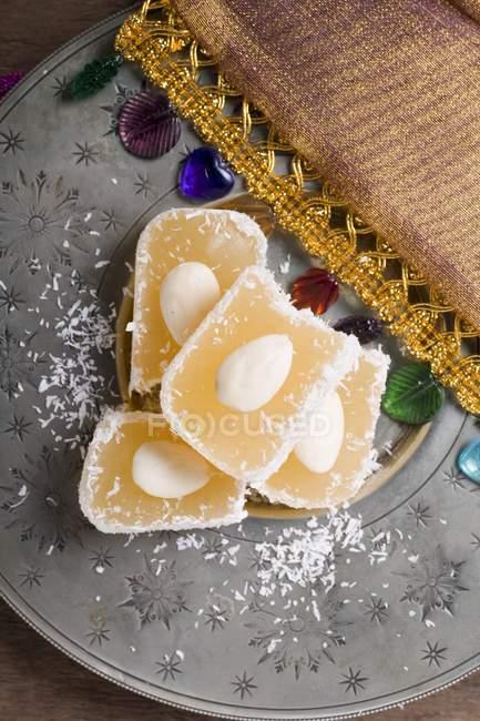 Delizia turca con cocco — Foto stock