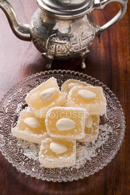 Turkish delight con mandorle — Foto stock
