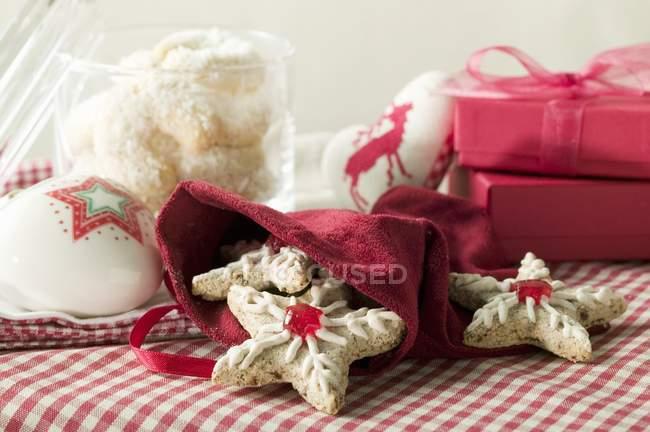 Surtido de galletas de Navidad - foto de stock