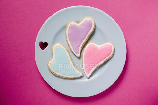 Heart shaped biscuits — Stock Photo