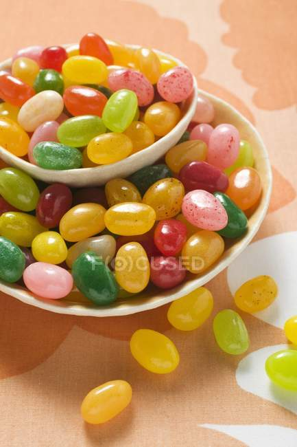 Coloured jelly beans — Stock Photo