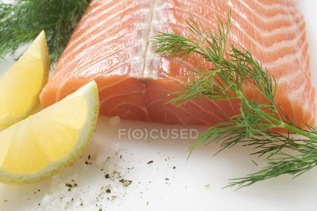 Fresh Salmon fillet — Stock Photo