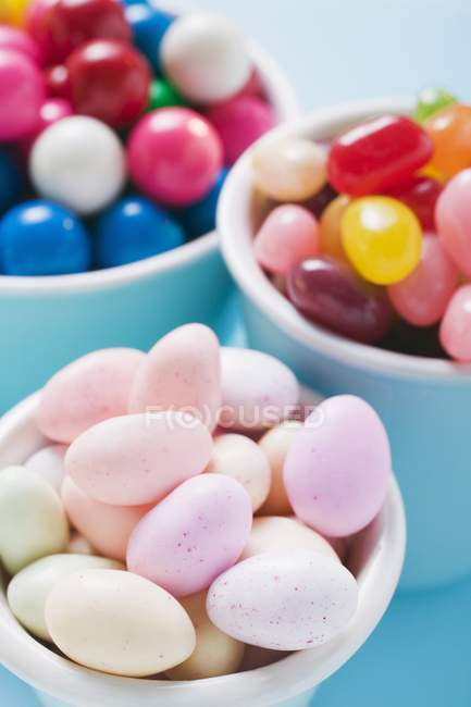 Jelly beans and bubble gum — Stock Photo
