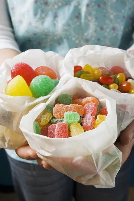 Sacs en papier de bonbons gelée — Photo de stock